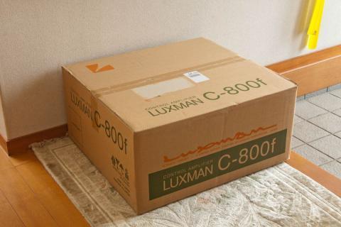 luxman C800f  プリアンプ 箱