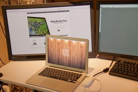 MacBookAir SX7262W デュアルデスプレイ 拡張