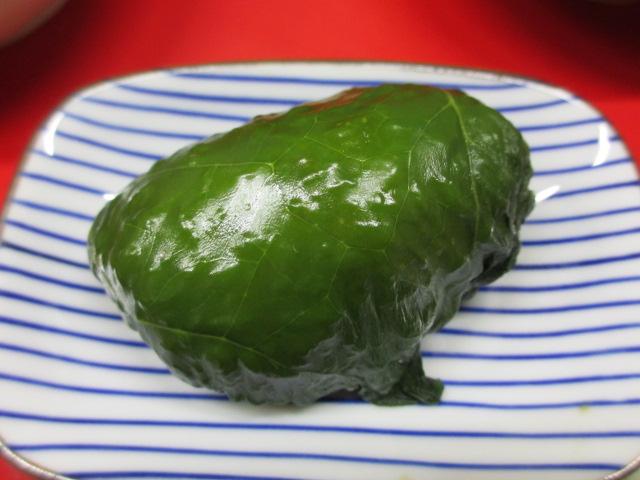 温泉民宿こぶち 夕食(紀州名物 めはり寿司)