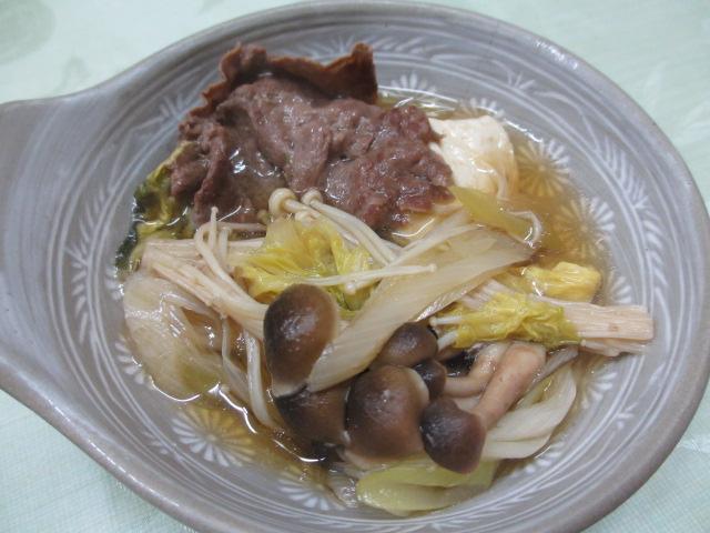 温泉民宿こぶち 夕食(熊野牛の小鍋)3
