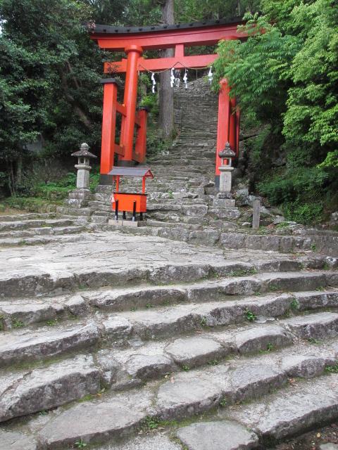 神倉神社 石段