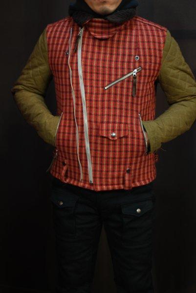 MFB-1763 キルトスリーブライダースジャケット