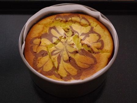 簡単ホットケーキミックスでマーブル模様の濃厚チーズケーキ08