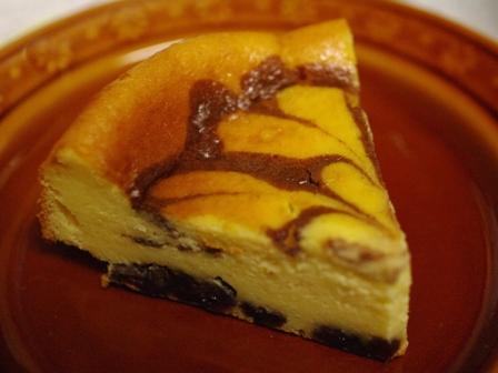 簡単ホットケーキミックスでマーブル模様の濃厚チーズケーキ09