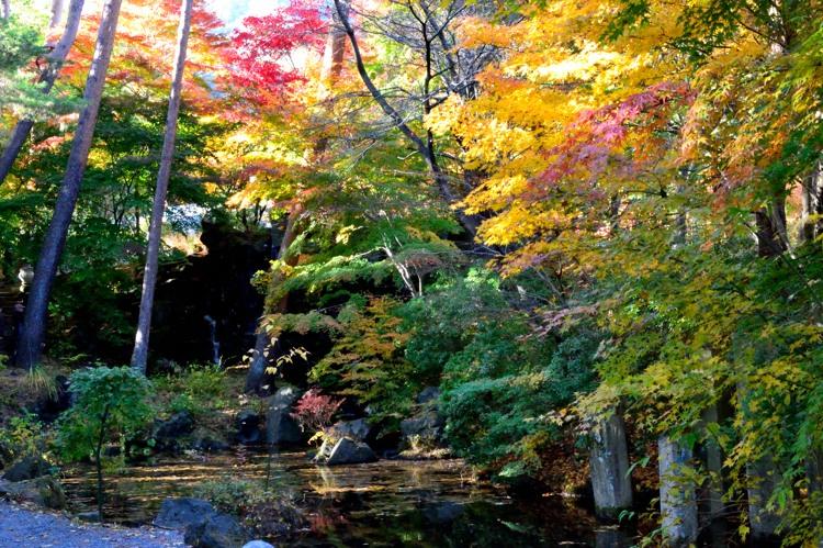河口湖 久保田一竹美術館庭園1