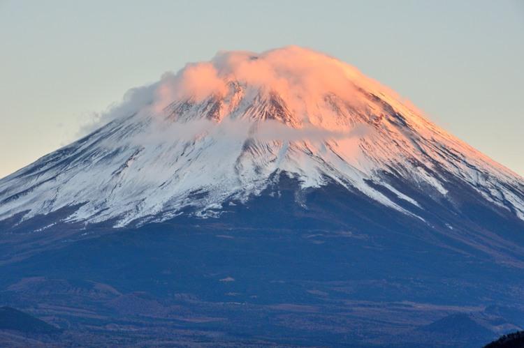 本栖湖の赤富士4