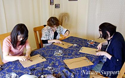 マクラメ編み石フレーム包み編み手作り教室