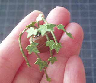 アイビーの葉っぱをつけたところ