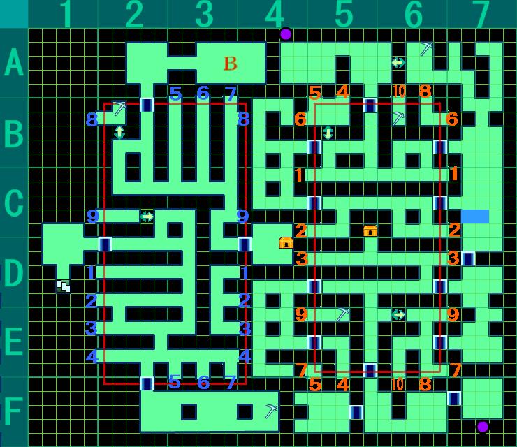 【世界樹の迷宮4 伝承の巨神】深霧ノ幽谷 B3F[完全版] マップ