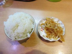 麺や力 サービスライスとモヤシ