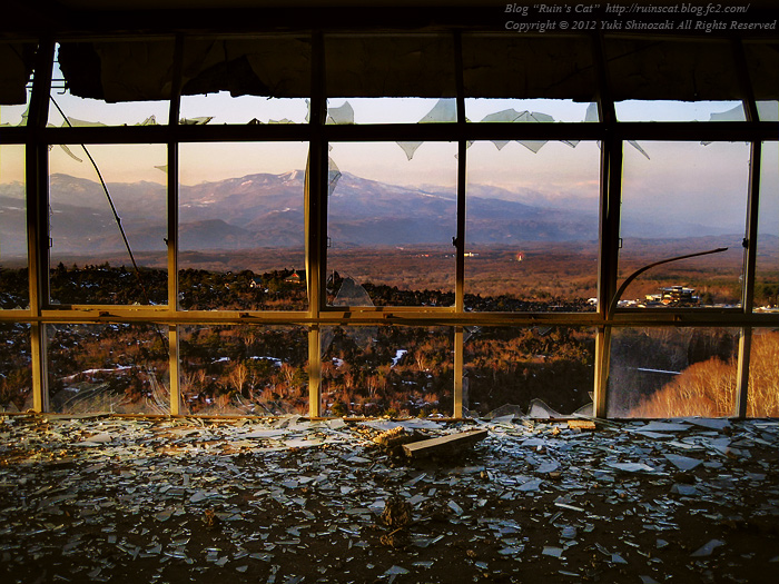「浅間の風の破壊美」 浅間園展望台