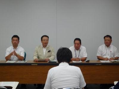 2012年度中間期県政経営および9月補正予算に関する要望申し入れ
