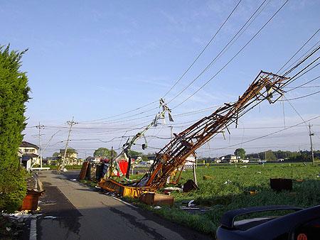 民主党栃木県連[突風等被害の現地調査および緊急要望]真岡市被害④