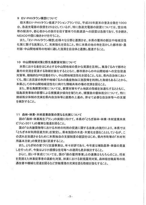平成25年度 栃木県当初予算および政策推進に関する要望申入れ⑥