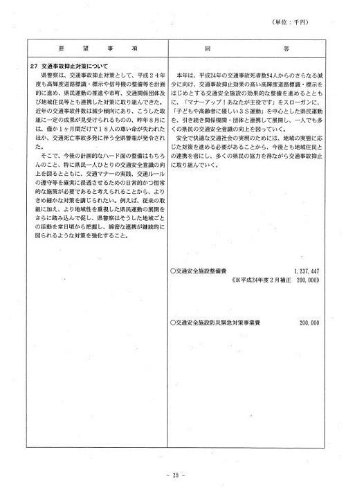 栃木県当初予算および行政推進に関する要望書に対する回答26