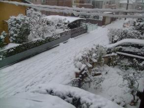ビニールハウスに積り続ける雪・・・2014.02.14.16:46